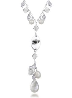 Texas El Paso Miners Crystal and Pearl Necklace