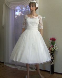 Leila  Vintage Inspired Wedding Dress Beautiful by EllanaCouture, $550.00