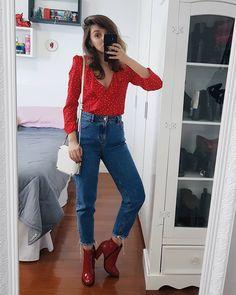46.4 mil seguidores, 1,390 seguindo, 2,328 publicações - Veja as fotos e vídeos do Instagram de Yasmim Fassbinder (@yaah_) #7lookschallenge yasmim fassbinder mom jeans, bota vermelha Cute Fall Outfits, Trendy Outfits, Fashion Outfits, Oufits Casual, Style Casual, Cute Jeans, Mom Jeans, Outfits Con Camisa, Ripped Knee Jeans