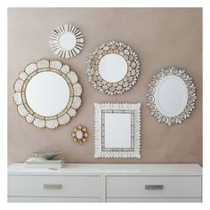 West Elm Peruvian Handmade Mirror, Silver/White, Rectangle -... ($110) ❤ liked on Polyvore featuring home, home decor, mirrors, white mirror, handcrafted home decor, white home decor, silver home accessories and silver home decor