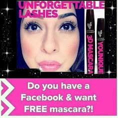 If you want a FREE 3D MASCARA/MAKEUP connect with me on FB (link is in my bio) and send me a message. We can do a party where I will do all the work you just need to invite some friends. Heck, you can sit around in your robe and eat some bon bons while earning free and 1/2 priced makeup. #younique https://www.youniqueproducts.com/lashestothemax/presenter/myparties
