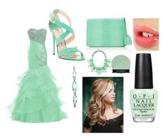 """""""Me, Ayla, and Jasmine @ the ball: Ayla"""" by creative-with-fashion ❤ liked on Polyvore featuring mode, Charlotte Tilbury, Mark Cross, OPI, Jimmy Choo, Slate & Willow, Tom Binns, women's clothing, women et female"""