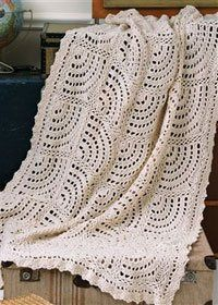 Swirling Fans Crocheted Throw, As Seen on Knitting Daily TV Episode 501 - Crochet Me