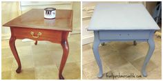 Fat Paint is super easy to use, in less than an hour and half I had time to finish this cute little end table. Fat Paint is safe, easy and fun to use