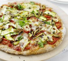 Superhealthy pizza - The quantities for this are generous, so if you have any leftovers, pop a wedge of cold pizza into your lunchbox the next day