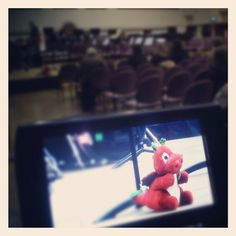Preparing to film a Cardiff University Brass Band concert at the School last week...