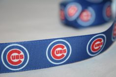 CHICAGO CUBS Printed ribbon or bow centers. by TheRibbonObsession