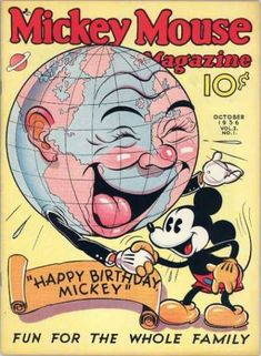 A cover gallery for the comic book Mickey Mouse Magazine Cartoon Posters, Retro Cartoons, Disney Posters, Old Cartoons, Classic Cartoons, Disney Cartoons, Walt Disney, Disney Love, Punk Disney