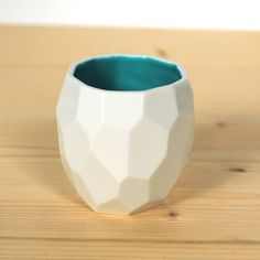Modern ceramic espresso cup  handmade in polygons by studioLORIER, €14.50