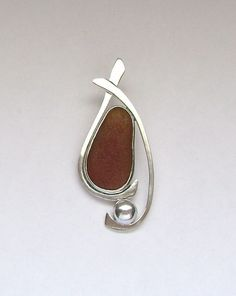 Sea Glass Jewelry  Sterling Brown Sea Glass by SignetureLine, $75.00