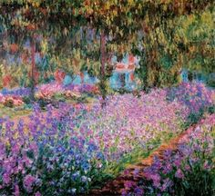 Claude Monet – Irises in Claude Monet's Garden at Giverny – 1900