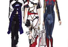 Sketch of dress of fashion designer 81