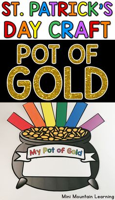 Patrick's Day Craft- Pot of Gold St. Patrick's Day craft for kids. Have your students complete t St Patricks Day Crafts For Kids, St Patrick's Day Crafts, New Year's Crafts, Fathers Day Crafts, Valentine Day Crafts, Summer Crafts, Fun Crafts, Classroom Activities, Activities For Kids