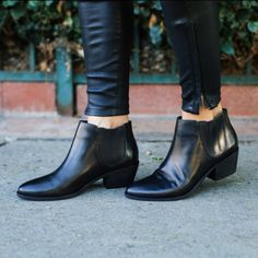 """Joie Barlow Chelsea Ankle Booties •Classic Joie booties make a chic, everyday impression. Hidden elastic gores offer an easy pull-on fit. Stacked 2"""" heel and leather sole.  •EU 37.5, true to size. Will also work for a 7.  •Like new condition, minor creasing on upper, soles refinished.  •NO TRADES/PAYPAL/MERC/VINTED/NONSENSE.   •PLEASE USE OFFER FEATURE IF YOU WANT TO NEGOTIATE PRICE. Joie Shoes Ankle Boots & Booties"""