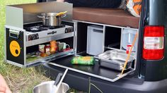 The QUQUQ packs sleeping, cooking, cleaning and storage into a large chest
