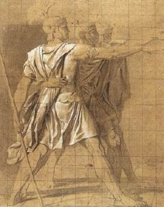 The Three Horatii Brothers Neoclassicism Jacques Louis David art for sale at Toperfect gallery. Buy the The Three Horatii Brothers Neoclassicism Jacques Louis David oil painting in Factory Price. Jacque Louis David, Jean Louis David, Guy Drawing, Life Drawing, Painting & Drawing, David Painting, Web Gallery Of Art, European Paintings, Classical Art