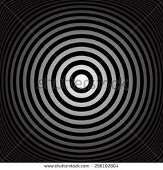 Concentric rings. Abstract circles texture. Vector art.