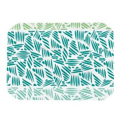 """Pom Graphic Design """"Bamboo"""" Teal Green Place Mat"""