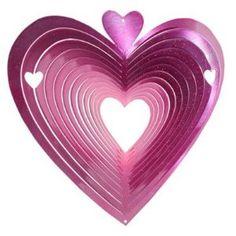 Red Heart Garden Spinner - Decorating a Garden for Valentine's Day