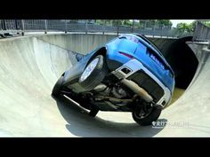 Gravity-defying stunt drive in Asia's biggest skate park