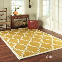 Handmade Luna Marrakesh Trellis Wool Rug (7'6 x 9'6) | Overstock.com
