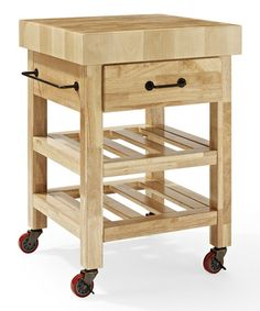 Another great find on #zulily! Natural Marston Butcher Block Kitchen Cart by Crosley #zulilyfinds