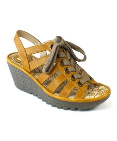 $74.99 Loving this Mustard Yito Leather Sandal on #zulily! #zulilyfinds