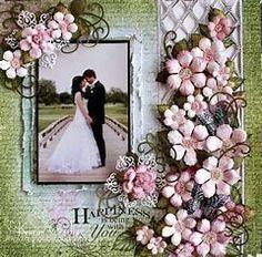 Image result for Wedding Scrapbook Layouts #weddingscrapbooks #scrapbooking101