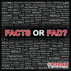 "EVERY time you turn around, there's a new diet or nutrition plan that ""guarantees"" faster weight loss and better results. So how do you separate the good from the bad? The facts from the fad? The answer is simple: 9Round Nutrition. So WHAT is 9Round Nutrition? It's a scientific method of eating for max fat loss and performance. Learn to manipulate carbs, proteins & fat to get the results you want! Not a yet a 9Rounder? Contact us for more info! #9RoundNutrition #9RoundCoMo"