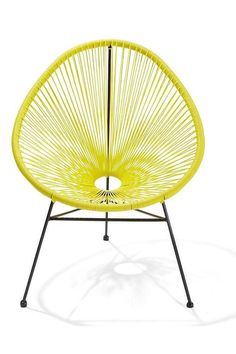 Occasional Chairs, Outdoor Gardens, Home And Garden, Yellow, Furniture, Home Decor, Deck, Acapulco, Decoration Home