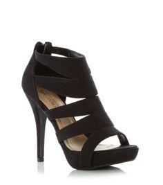 Gold Suedette Diamante Floral Embellished Sandals  Shops Shoes