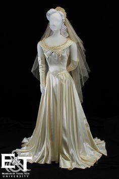 Wedding dress, 1948, American.