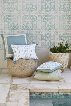 Lacefield Splash Outdoor Pillow Collection 2015