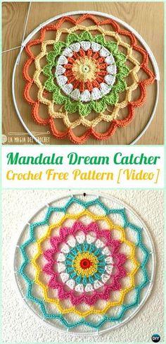 Crochet Mandala DreamCatcher Free Patterns - #Crochet Dream Catcher Free Patterns