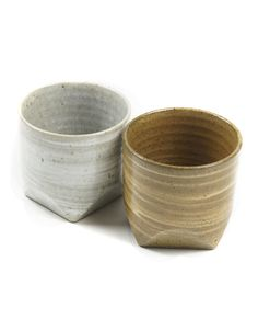 Tampopo Grey/Brown Round Cup with Square Base - Set of 2 by Tampopo   Revolver