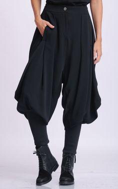 NEW Black Drop Crotch Pants/Loose Maxi Pants/Extravagant Plus Size Trousers/Black Harem Pants/Black Gypsy Pants/Oversize Long Trousers Fall Outfits, Cute Outfits, Fashion Outfits, Maxi Pants, Harem Pants Outfit, Harem Pants Fashion, Black Harem Pants, Gypsy Pants, Drop Crotch Pants