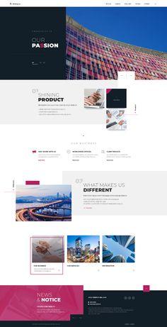 web design - web design on Behance - Layout Design, Website Design Layout, Wordpress Website Design, Web Layout, Page Design, Corporate Website Design, Ux Design, Design Ideas, Web Design Trends