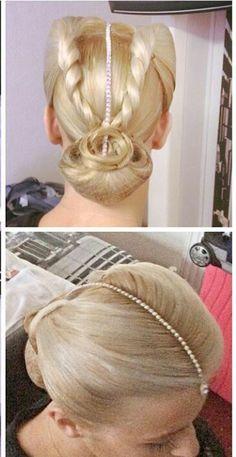 Ballroom hair twist