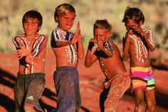 Oceania: Australian aboriginal children