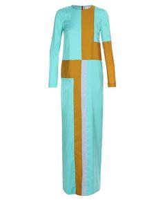 ROKSANDA ILINCIC-colour- blocked silk maxi-dress