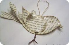 passarinho de papel