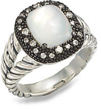 David Yurman Moonstone, Diamond & Sterling Silver Ring on shopstyle.com