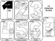 Dias de la Creacion para colorear ~ Dibujos para Colorear Infantil