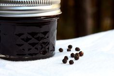 With the last of my 13-pound haul of Concord grapes from Maine I decided to attempt a jelly (even though jelly and I are not best friends). Since I'd already made a sweet-tart jam and a maply…