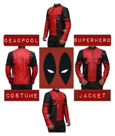 Designer Clothes, Shoes & Bags for Women Deadpool Jacket, Deadpool Superhero, Windowpane Suit, Super Hero Costumes, Motorcycle Jacket, Black Leather, Suits, Cosplay Ideas, Red