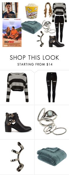 """""""Imagine you and peter watching 50 first dates and cudding"""" by bluenia on Polyvore featuring QED London, Topshop, Repossi, Berkshire Blanket and Balvi"""