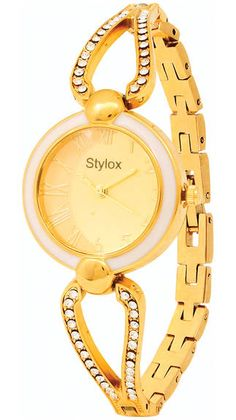 Stylox Gold Analog Watch Brand - Stylox Product Code - WATSTYLOX-GOLD-DEAL2092021D96C46 Dial Dimension - (Diameter in mm)18 Warranty - 1 Year Manufacturing Warranty Only Strap Color - Gold Dial Shape - Round Material - Metal Gender - Women https://play.google.com/store/apps/details?id=com.womensdeals.womensdeals