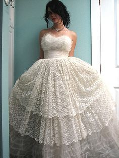 Vintage Lace Party Dress | Flickr - Photo Sharing!