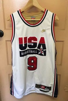 8d04982cb4bd51 Nike Michael Jordan  9 Usa Basketball 1992 Olympics Dream Team Jersey Mens  L MJ