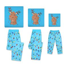 * Christmas deer and lights print<br /> * Soft and comfy<br /> * Include: 1 top, 1 bottom<br /> * Material: 100% Cotton(Top), 100% Polyester(Bottom)<br /> * Machine wash, tumble dry<br /> * Imported<br /> <br /> You can never go wrong if you choose this pajamas set, especially for the upcoming Christmas. Cut from premium cotton material, these pajamas keep you comfortable all the time.